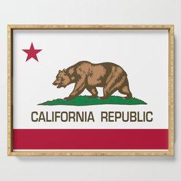 California flag Serving Tray