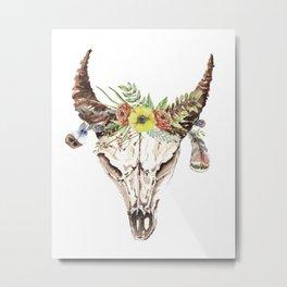 Romantic Skull Metal Print