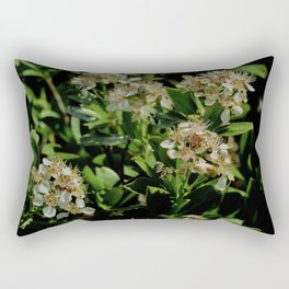 Stopping to Smell the Flowers at the Top of the Mountain Rectangular Pillow