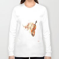 violin Long Sleeve T-shirts featuring violin by arnedayan