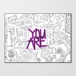 You Are - Fuchsia Canvas Print