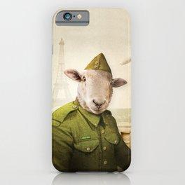 Private Leonard Lamb visits Paris iPhone Case