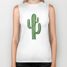 Saguaro cactus. Biker Tank