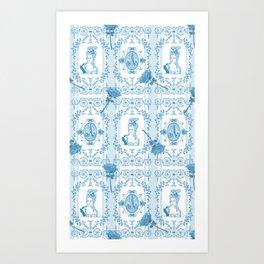 Marie-Antoinette Monogram (Aqua) Art Print
