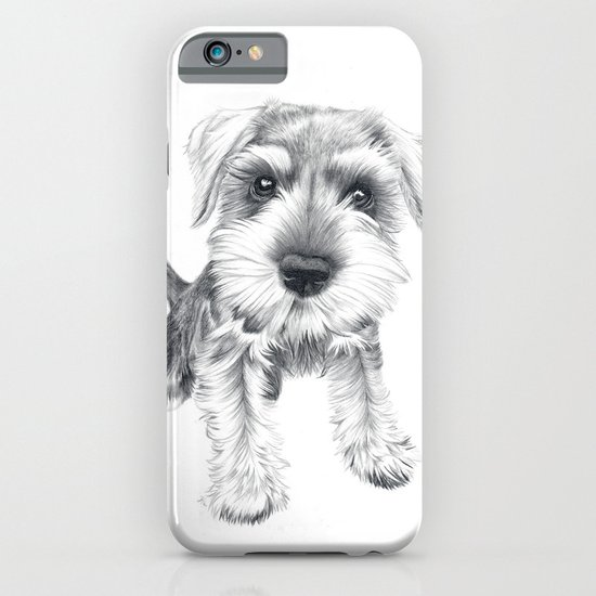Schnozz the Schnauzer iPhone & iPod Case