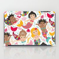 mermaids iPad Cases featuring Mermaids by Helene Michau