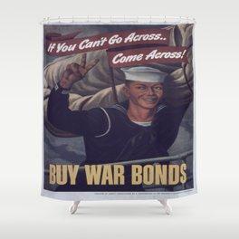 Vintage poster - Buy War Bonds Shower Curtain