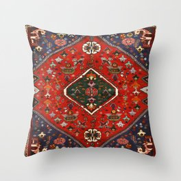 N65 - Colored Floral Traditional Boho Moroccan Style Artwork Throw Pillow