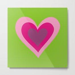 Three pink hearts Metal Print