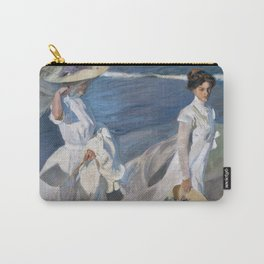 Joaquin Sorolla Y Bastida - Strolling along the seashore Carry-All Pouch