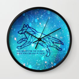 Livin in the Stars Wall Clock