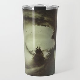 """""""When the owl sings, the night is silent. (Quand le hibou chante, La nuit est silence)."""" Travel Mug"""