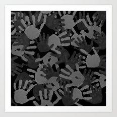 evidence v2: nite camo Art Print