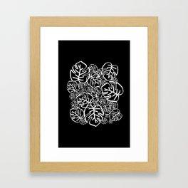 Black Palms Framed Art Print