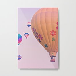 Colorful Hot Air Balloons Metal Print
