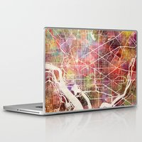 washington Laptop & iPad Skins featuring Washington by MapMapMaps.Watercolors