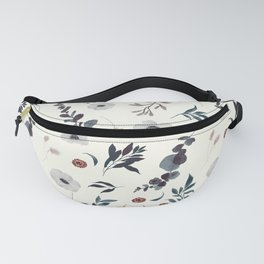 Watercolor Anemone Pattern Fanny Pack