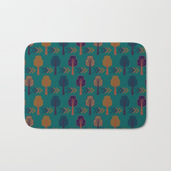 Trees and arrows Bath Mat