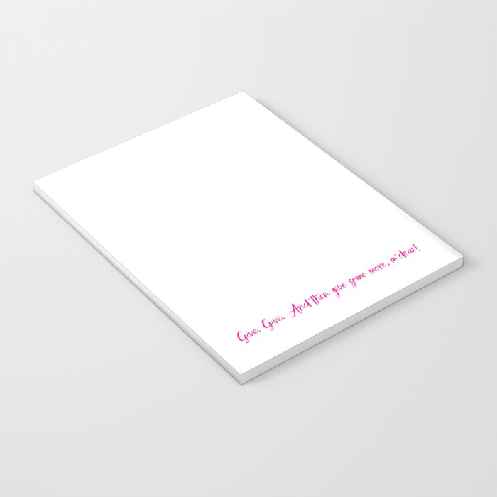 Give Notebook