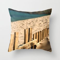 Fence beach Throw Pillow