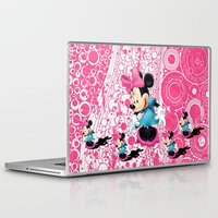 minnie mouse Laptop & iPad Skins featuring Minnie Mouse Cartoon by Maxvision