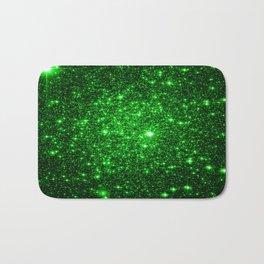 gAlAXy Green Sparkle Stars Bath Mat