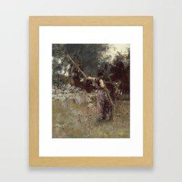 John Singer Sargent - A Capriote Framed Art Print