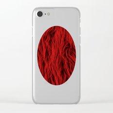 Red Wooly Carpet Clear iPhone Case