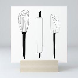 Baking Weapons Mini Art Print