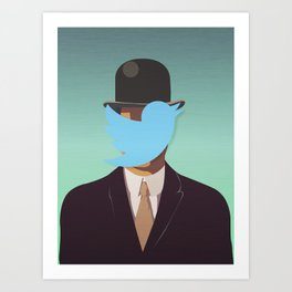 The Man with the Bowler Hat Art Print