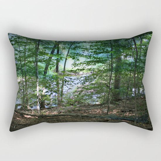 Early Morning Mist Rectangular Pillow