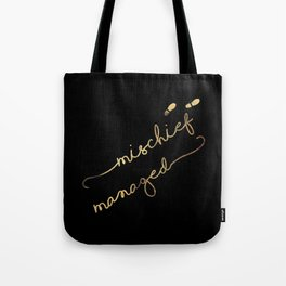 Mischief Managed (black) Tote Bag