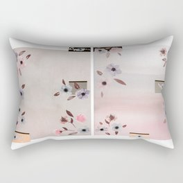 Flower Collage Rectangular Pillow