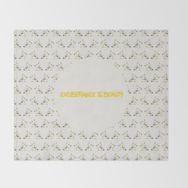 Exuberance is beauty patterned Throw Blanket