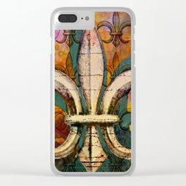 Patricia's Fleur de Lis Clear iPhone Case