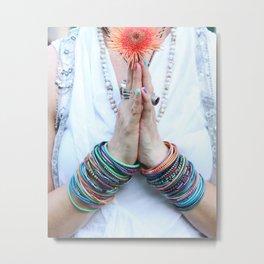 Gratitude Attitude Prayer Hands Metal Print