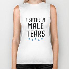 I Bathe In Male Tears Biker Tank