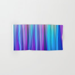 Abstract Purple and Teal Gradient Stripes Pattern Hand & Bath Towel