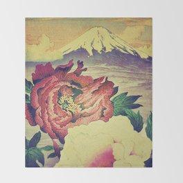 Flowering at Hamata Throw Blanket
