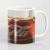 coca cola Mugs featuring Enjoy Coca-Cola by Joseph Lee Photography