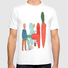 Friends and the garden. White Mens Fitted Tee MEDIUM