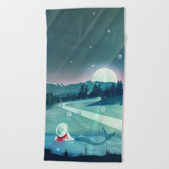 A Mermaid's Dream Beach Towel