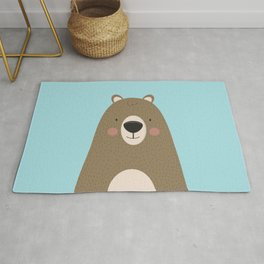 Bears Are Friendly Rug