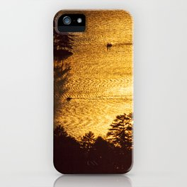 Golden Waters on Newfound Lake iPhone Case