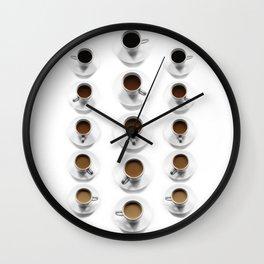 Shades of Coffee Wall Clock