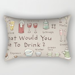 What would you like to drink? Rectangular Pillow
