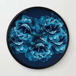 Blue Peony Flower Bouquet #1 #floral #decor #art #society6 Wall Clock