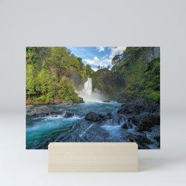 Huilo Huilo Falls Neltume Salto Huilo Huilo Panguipulli Chile Ultra HD Mini Art Print