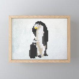 Emperor Penguin – Species in danger of pixelation Framed Mini Art Print