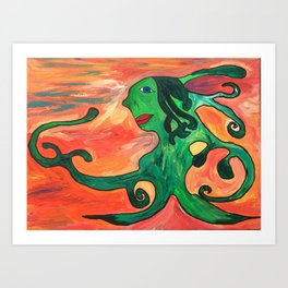 Moss Lady Art Print